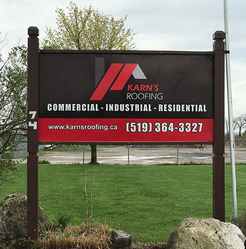karnsroofing sign